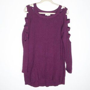 Umgee + Sweater Womens XL Purple Plum